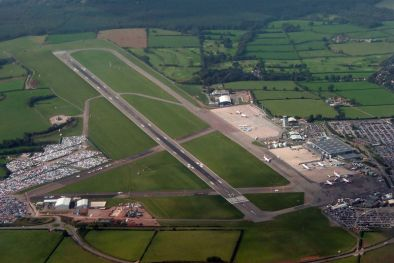 Bristol airport aerial view