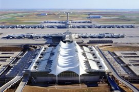 Aerial View of Denver International Airport