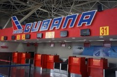 Cuba de Aviaciòn check-in counter at Jose Marti International Airport