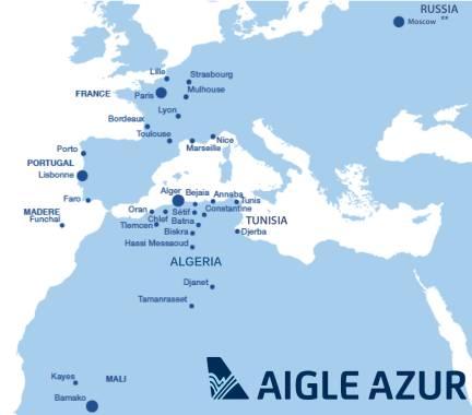 Aigle Azur Route Map