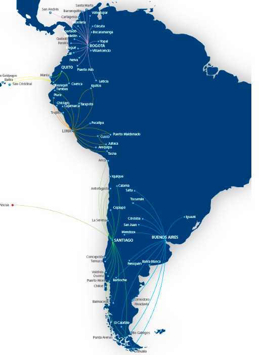 lan argentina route map