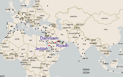 saudia airline route map