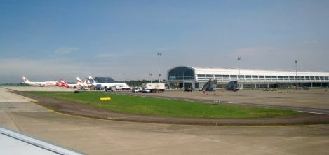 The outside of Soekarno–Hatta International Airport from a distance