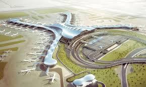 Birds eye view of Abu Dhabi International Airport