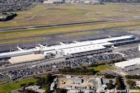 Aerial view of Adelaide airport