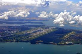 Birds eye view of Singapore Changi Airport