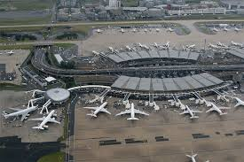 Aerial view of Charles de Gaulle Airport