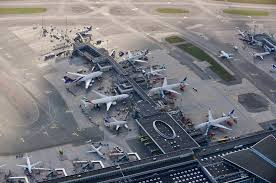 Aerial view of Kastrup Copenhagen Airport