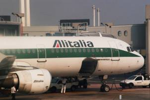Alitalia Airlines Aircraft, Leonardo Da Vinci Fiumicino International Airport