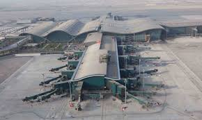 Birds-eye view of Hamad International Airport