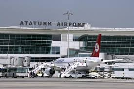 Outside of the front of Istanbul Ataturk Airport