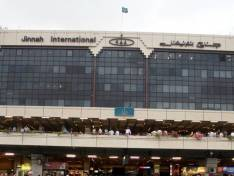 Jinnah International Airport from the outside