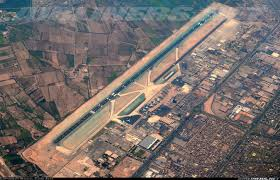 Birds-eye view of Jorge Chavez International Airport