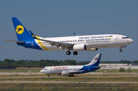 Ukraine International Airlines aircraft taking off at Boryspil airport