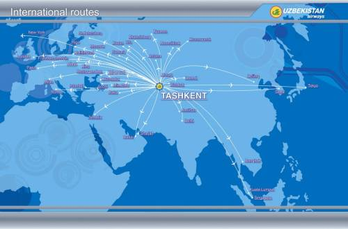 Uzbekistan Airways Route Map