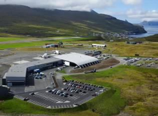Aerial view of Vagar Airport
