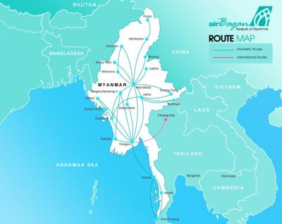 Air Bagan Route Map