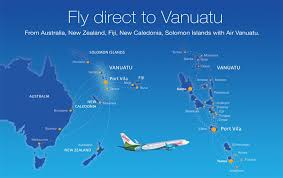 Air Vanuatu route map