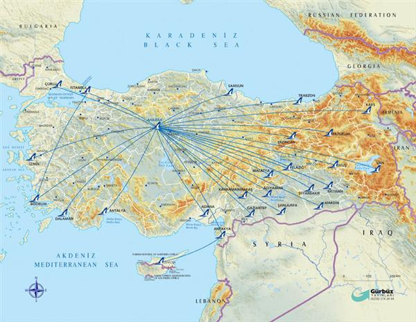 AndoluJet Flight Route Map