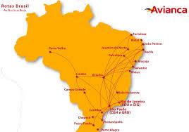 Avianca Brazil Route Map