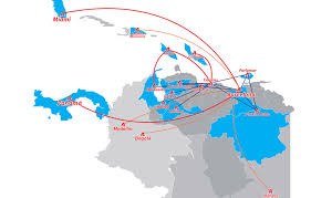 Avior Airlines route map
