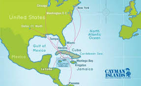 Cayman Airways Route Map