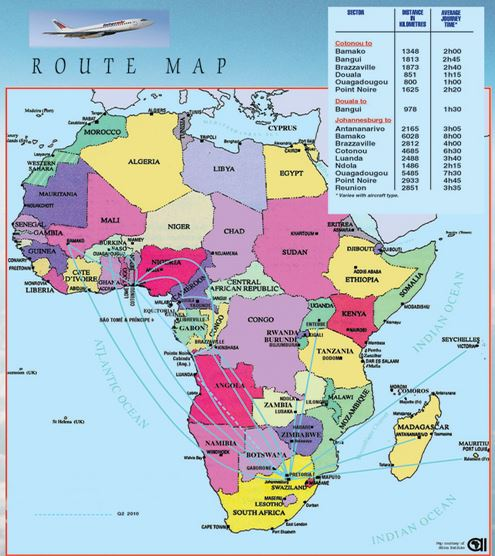 Interair South Africa Route Map