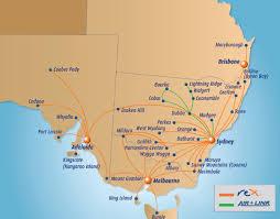 Rex Regional Express route map
