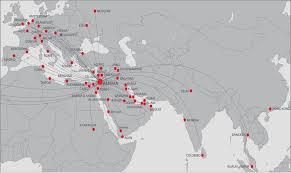 Royal Jordanian Airlines route map