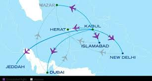 Safi Airways Route Map