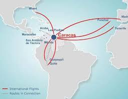 Map of Santa Barbara Airline routes