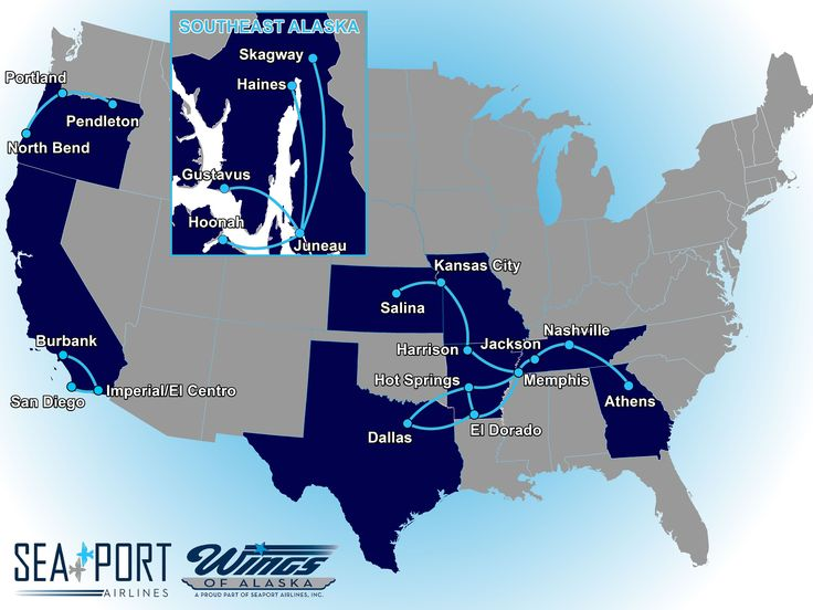 SeaPort Airlines Route Map