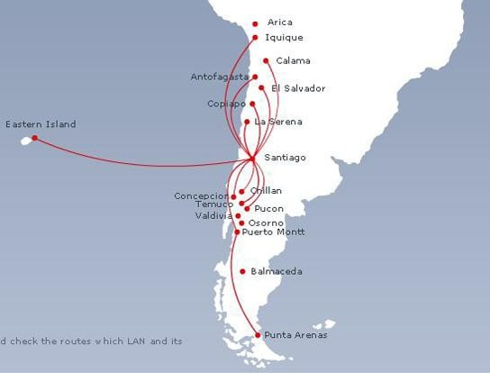 Sky Airlines route map