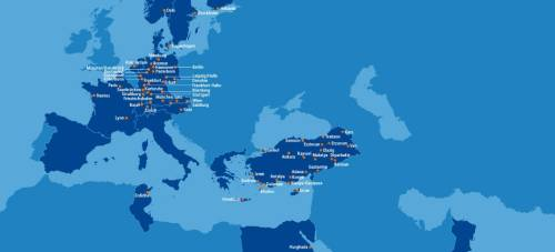 SunExpress Route Map