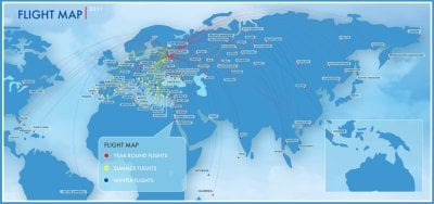 transaero route map