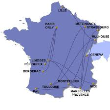 twin jet route map