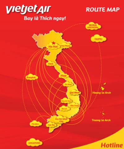 Vietjet Air Route Map