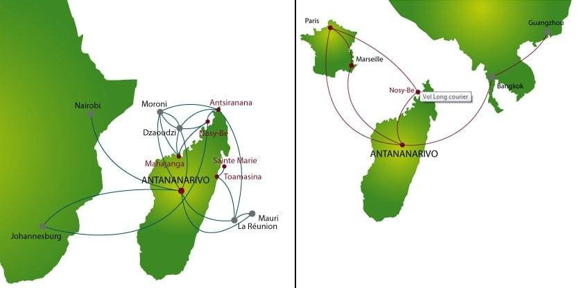 air madagascar route map