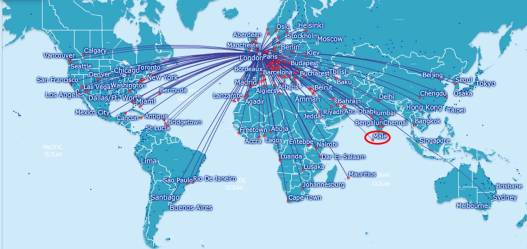 british airways route map