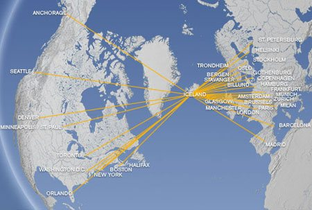 Icelandair route map
