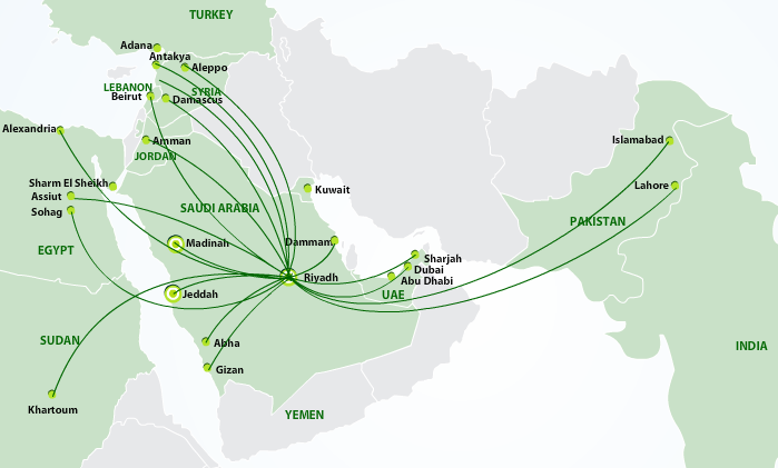 flynas route map