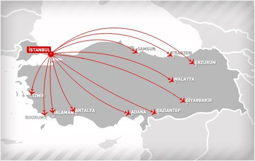 onur air flights route map