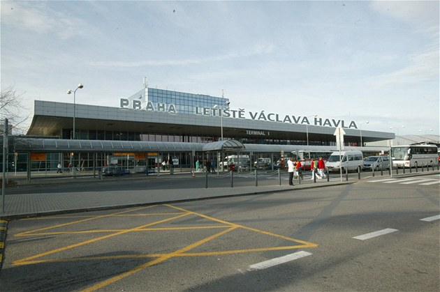 Outside the front of Václav Havel Airport Prague