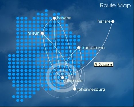 Air Botswana route map