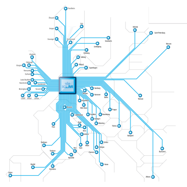 Route map KLM