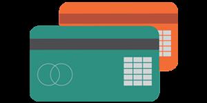 2 debit cards icon