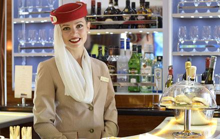 Emirates onboard bar A380