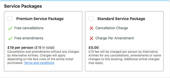 Alternative Airlines' Premium Service Package