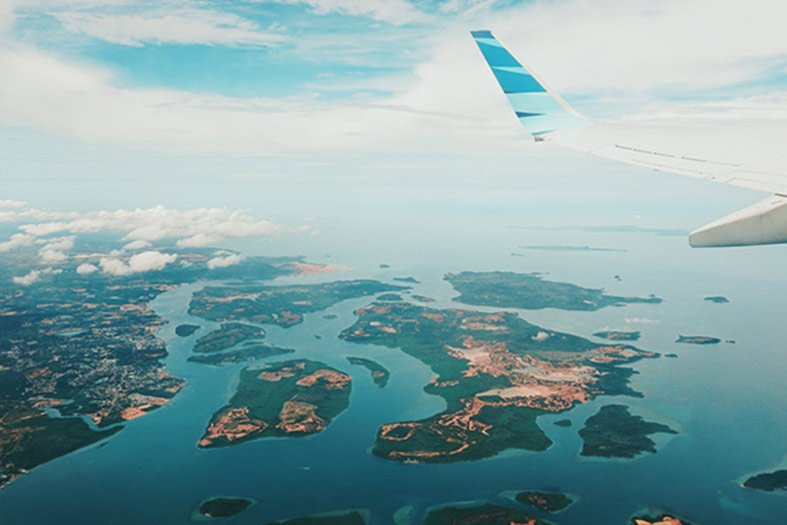 Aerial View of Indonesia
