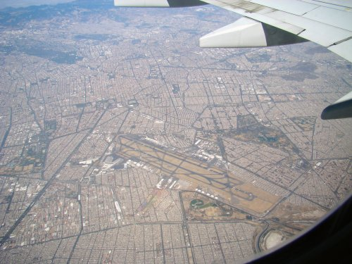 Aerial View of Mexico City Airport